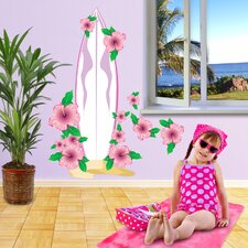 Beach Surfboard Girl Wall Decal