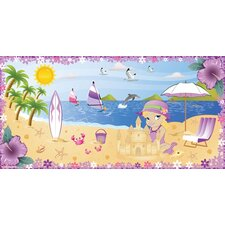 Beach Girl Hanging Wall Mural