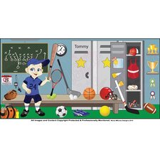 Sports Boy Hanging Wall Mural