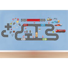 Peel and Play Race Car Wall Decal