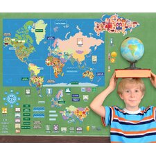 Peel, Play and Learn World Map