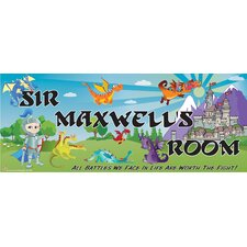 Personalized Knight & Dragon Name Wall Decal