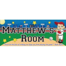 Baseball Boy Name Wall Decal