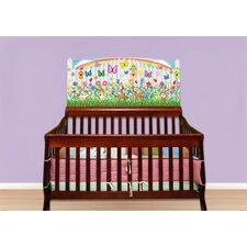 Flower Baby Crib Wall Mural