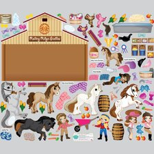Horse Friends Interactive Wall Decal