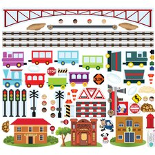 Trains Interactive Wall Decal