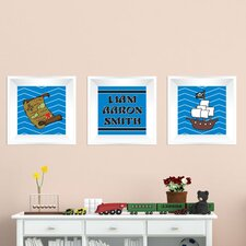 3 Piece Pirate Picture Frame Wall Decal