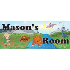 Dino Boy Name Wall Decal