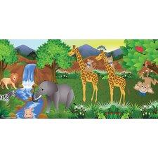 Giraffe Boy Hanging Wall Mural