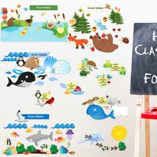Educational Peel and Learn Eco System Wall Decal