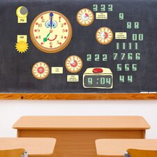 Educational Peel and Learn Time Wall Decal