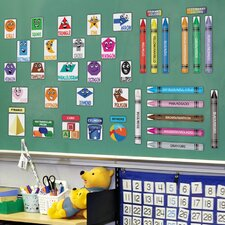 Educational Peel and Learn Colors & Shapes Wall Decal