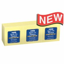 """3"""" X 3"""" Stick On Notes (Set of 12)"""