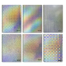 One-Subject Holographic Spiral Notebook (Set of 6)
