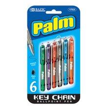 Palm Mini Ballpoint Pen (Set of 6)