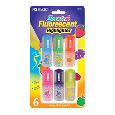 Fruit Scented Mini Highlighter (Set of 6)