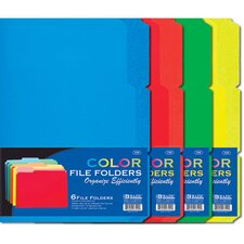 6 Ct. 0.33 Cut Letter Size Color File Folder (Set of 432)