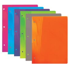 Translucent 2-Pockets Poly Portfolio (Set of 48)