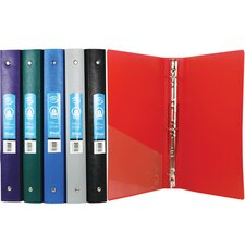 Matte Color Poly 3-Ring Binder with Pocket (Set of 48)