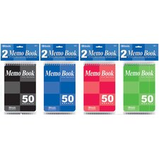 Top Bound Spiral Memo Books (Set of 2)