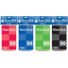 Top Bound Spiral Memo Book (Set of 6)