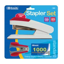 Comfort Grip Desktop Stapler Set