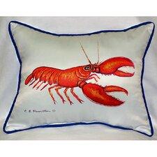 Coastal Lobster Indoor/Outdoor Lumbar Pillow