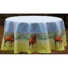 Horse Round Tablecloth
