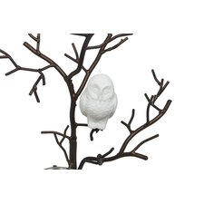 Owl on Wire Branch Tree Glass Tealight