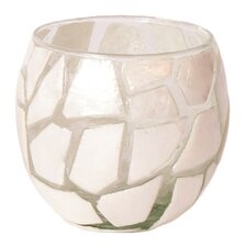 Mosaic Capiz Shell and Glass Bowl Votive (Set of 2)