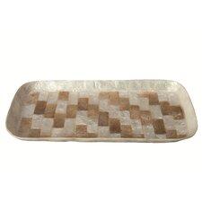 Capiz Mosaic Rectangular Tray with Rounded Corner