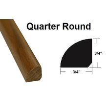 """0.75"""" x 0.75"""" x 78.75"""" Oak Quarter Round in Light Yellow and Brown"""