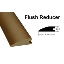 "0.56"" x 1.88"" x 78.75"" Oak Flush Reducer in Light Yellow and Brown"