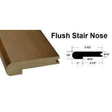 """0.88"""" x 3.5"""" x 78.75"""" Oak Stair Nose in Light Yellow and Brown"""