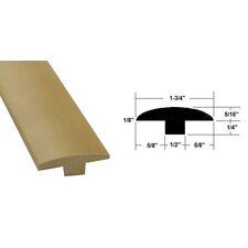 "0.56"" x 1.75"" x 78.75"" Maple T-Molding in Light Brown"