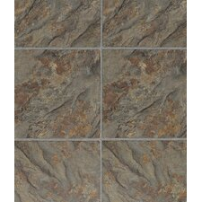 "3 Piece Grouted Style 12"" x 36"" x 4mm Luxury Vinyl Tile in Florentine Slate"