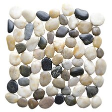 Interlocking Random Sized Natural Stone Mosaic Tile in Multicolor