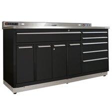 "Garage Workstation 72"" Wide 10 Drawer Bottom Cabinet"