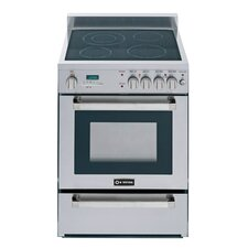 2 Cu. Ft Electric Convection Range in Stainless Steel