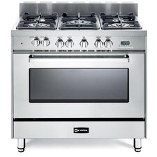 4 Cu. Ft Dual Fuel Convection Range in Stainless Steel