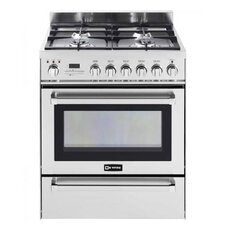 3 Cu. Ft. Dual Fuel Convection Range in Stainless Steel