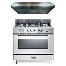 4 Cu. Ft. Dual Fuel Convection Range in Stainless Steel