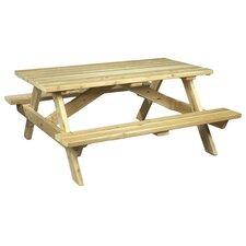Square Cedar Wood Picnic Table