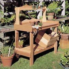 Cedar Potting Wood Storage Bench