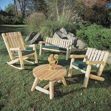 Log Cedar 4 Piece Seating Group