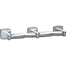 Double Surface Mounted Toilet Tissue Holder in Stainless Steel