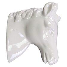 Ceramic Horse Head Wall Decor Gloss White