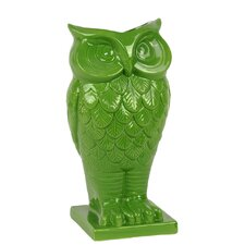 Ceramic Owl Vase with Base in Gloss