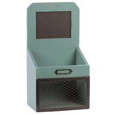 Wooden Mail Organizer Shelf with Card Holder