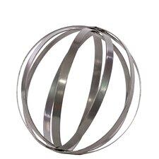 Metal Orb Dyson Sphere Design Decor in Metallic Gray